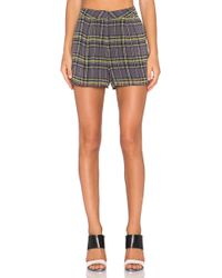 Lucca Couture - Plaid Short - Lyst