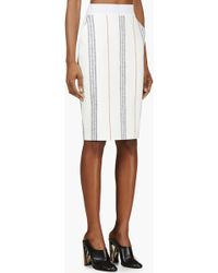 Altuzarra Ecru Print Stretch Cotton Kiku Pencil Skirt - Lyst