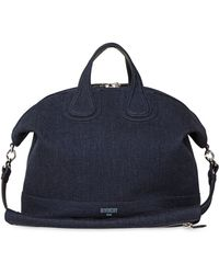 Givenchy - Nightingale Cotton Denim Bag - Lyst