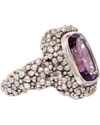 Stephen Dweck - Silver Beaded Amethyst Ring - Lyst