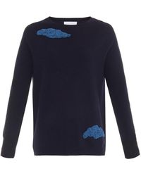 OSMAN - Beaded-clouds Cashmere Sweater - Lyst