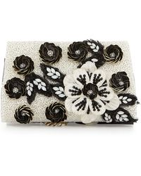 Alice + Olivia Womens Alice Olivia Carole Beaded Applique Clutch Bag - Lyst