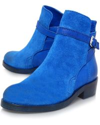 Acne Blue Clover Leather Boots - Lyst