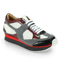 Maison Martin Margiela Mixed Media Platform Sneakers - Lyst