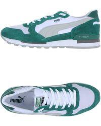 PUMA Low-Tops & Trainers green - Lyst