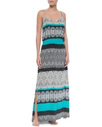 Vix Sawi Mabel Silk Long Dress - Lyst