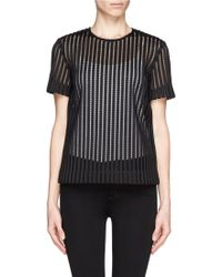 Rag & Bone Oda Mesh and Stripe Top - Lyst