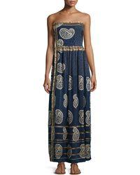 Calypso St. Barth - Rosanna Strapless Maxi Dress - Lyst