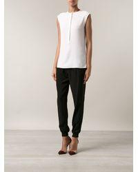Paco Rabanne Cap Sleeve Shirt - Lyst