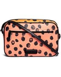 Marc By Marc Jacobs 'Sally' Colourblock Polka Dot Leather Bag multicolor - Lyst