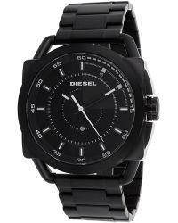 Diesel Mens Black Dial Black Leather - Lyst