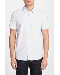 Ted Baker Men'S 'Norgood' Slim Fit Short Sleeve Polka Dot Sport Shirt - Lyst