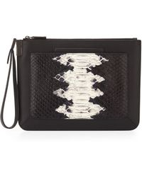 Time's Arrow | Ishi Snake-embossed Small Leather Wristlet | Lyst