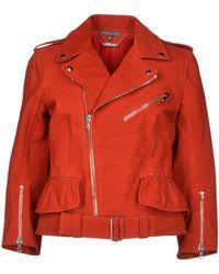 Alexander McQueen Jacket red - Lyst