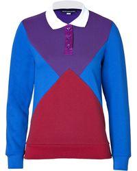 Ostwald Helgason - Polo Panel Sweatshirt In Purple/Red/Royal Blue - Lyst