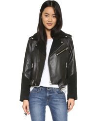 Ganni - Moss Leather Jacket - Lyst