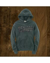 Denim & Supply Logo Terry Hoodie - Lyst
