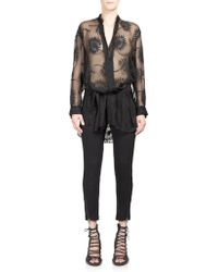 Ann Demeulemeester | Fitted Ankle-zip Trousers | Lyst