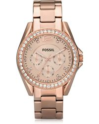 Fossil - Riley Stainless Steel Women's Watch - Lyst
