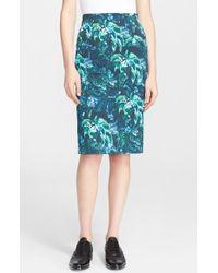 Erdem Palm Print Pencil Skirt - Lyst