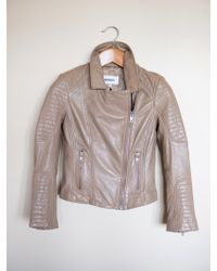 BB Dakota Leather Moto Jacket gray - Lyst