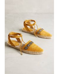 Belle By Sigerson Morrison Maia Espadrilles yellow - Lyst
