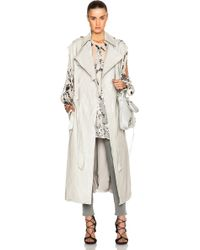 Zimmermann Fortune Leather Trench - Lyst