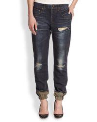 Rag & Bone - Printed Pajama Jeans - Lyst