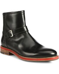 Bally Leather Ankle Boots - Lyst