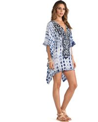 Taj Long Sleeve Coverup - Lyst