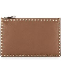 Valentino - Rockstud Large Flat Pouch - Lyst