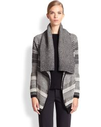 Yigal Azrouel Baby Alpaca Graphic Knit Cardigan - Lyst
