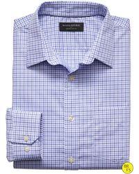 Banana Republic Factory Slim-Fit Non-Iron Blue Check Shirt blue - Lyst