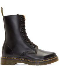 Dr. Martens Black 10_Eye Alix Boots black - Lyst