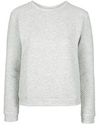 Topshop Chevron Sweat By Boutique gray - Lyst
