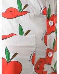 Au Jour Le Jour - Apple Print Playsuit - Lyst