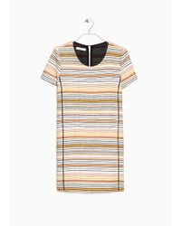 Mango Multicolor Striped Dress - Lyst