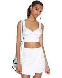 Nasty Gal Cutting Corners Top - Lyst