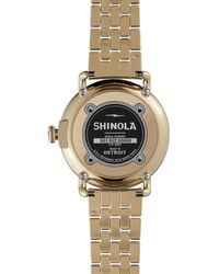 Shinola The Runwell Goldtone Watch with Date Window 41mm - Lyst