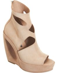 Ann Demeulemeester | Cut Out Detailed Wedge Ankle Boot | Lyst