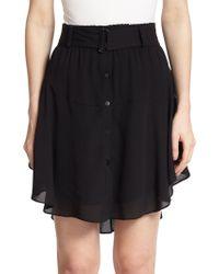 A.L.C. Jackie Silk Skirt black - Lyst
