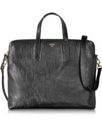 Fossil - Sydney Leather Work Bag - Lyst