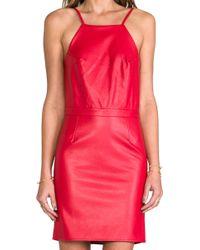 Boulee - Gabriella Vegan Leather Dress in Red - Lyst