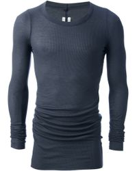 Rick Owens Fitted Long Sleeve Tshirt - Lyst