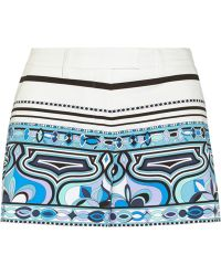 Emilio Pucci Printed Stretch-cotton Shorts - Lyst