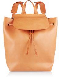 Mansur Gavriel Orange Leather Backpack - Lyst