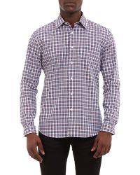 Barneys New York Plaid Point-Collar Shirt multicolor - Lyst