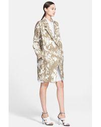 Jason Wu Print Oversize Cotton Twill Coat - Lyst