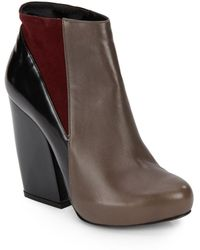 Pierre Hardy Colorblock Leather Ankle Boots - Lyst
