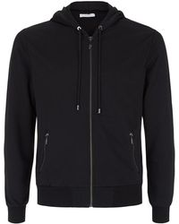 Versace Embroidered Detail Zip-Up Sweatshirt - Lyst